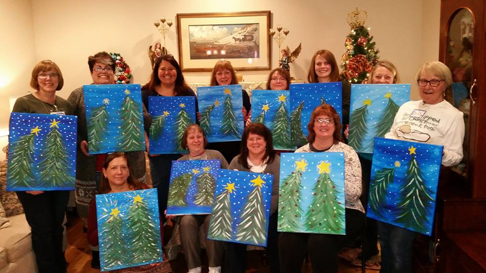 Painting with a Twist - Painting Party for Christmas Gift